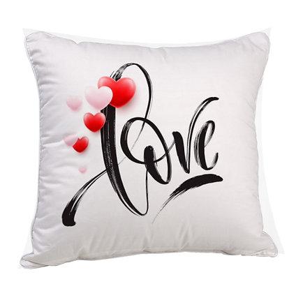 Love Satin Cushion Pillow with Filler