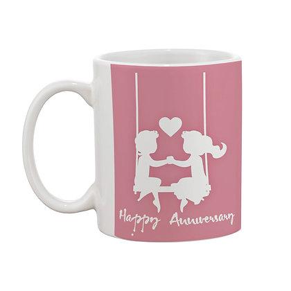 Happy Anniversary Ceramic Coffee Mug 325 ml