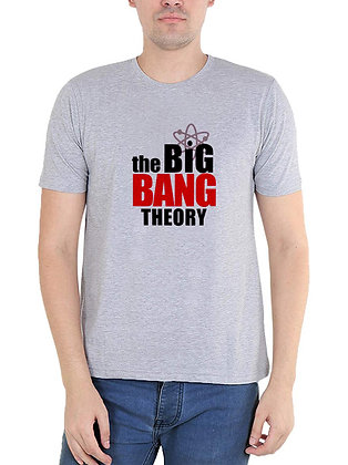 The big bang theory Printed Regular Fit Round Men's T-shirt