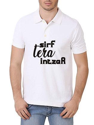Sirf Tera Intzar Printed Regular Fit Polo Men's T-shirt