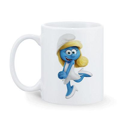Smurf Girl Printed Ceramic Coffee Mug 325 ml
