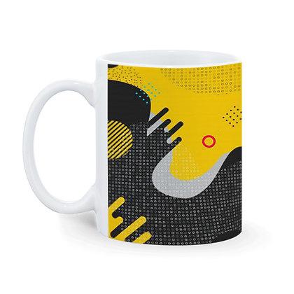 Theme Printed Ceramic Coffee Mug 325 ml