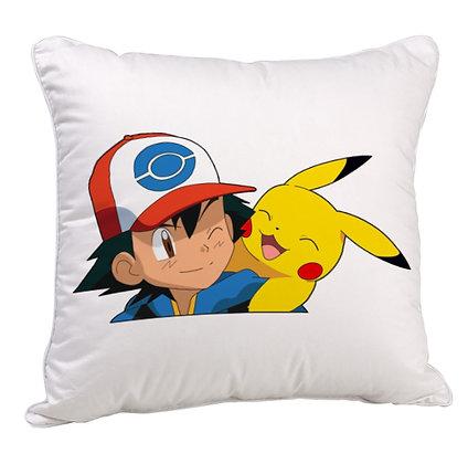 Pokémon Printed Poly Satin Cushion Pillow with Filler