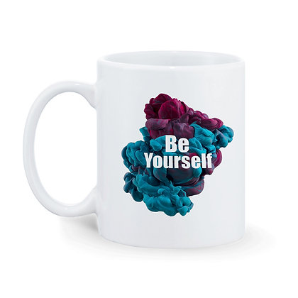 Be Yourself Printed Ceramic Coffee Mug 325 ml