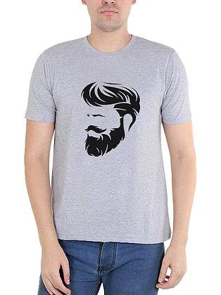 Cool Look Printed Regular Fit Round Men's T-shirt