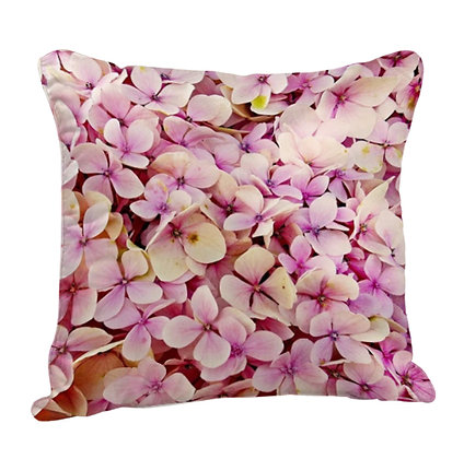 Beautiful Flowers Pattern Satin Cushion Pillow with Filler
