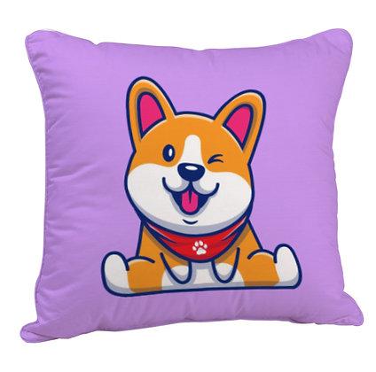 Cool Dog Satin Cushion Pillow with Filler