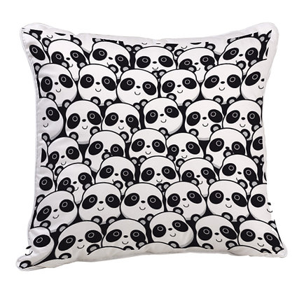 Panda Pattern Digital Printing Satin Pillow and Cushion Cover with Filler