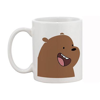 Cartoon Bear Printed Ceramic Coffee Mug 325ml
