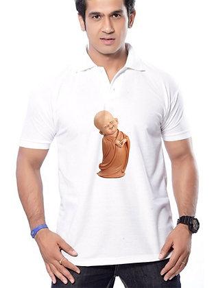 Little Buddha Printed Regular Fit Polo Men's T-shirt