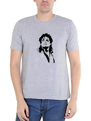 Michael Jackson Printed Regular Fit Round Men's T-shirt