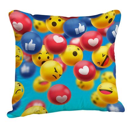Like - Heart  EMOJI Partten Satin Cushion Pillow with Filler