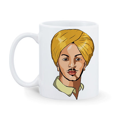 Bhagat Singh Printed Ceramic Coffee Mug 325 ml