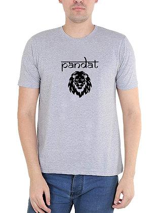 Pandat Printed Regular Fit Round Men's T-shirt