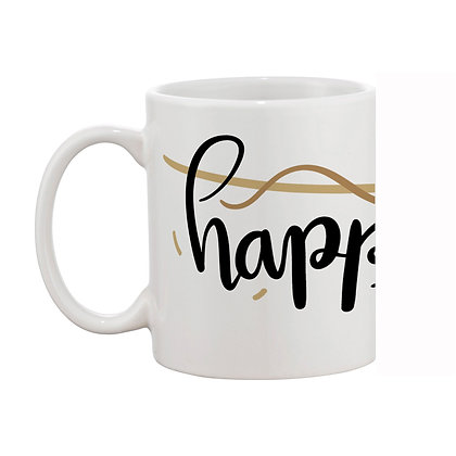 Happy New Year Ceramic Coffee Mug 325 ml