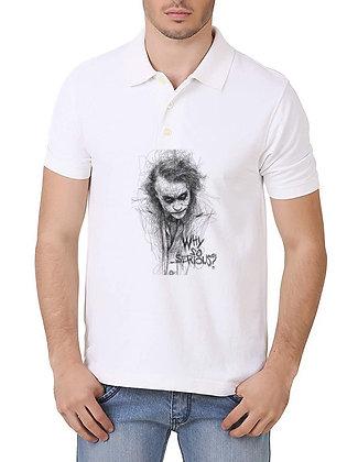 Joker Printed Regular Fit Polo Men's T-shirt