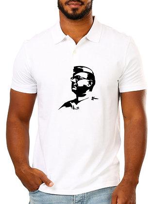 Subhas Chandra Bose Printed Regular Fit Polo Men's T-shirt