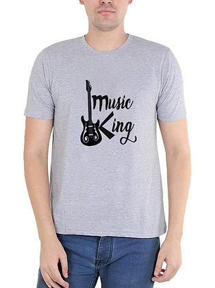 Music king Printed Regular Fit Round Men's T-shirt