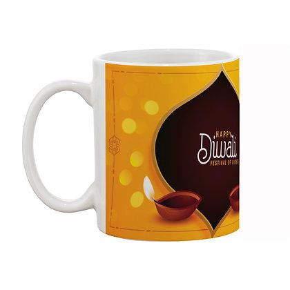 Happy Diwali Ceramic Coffee Mug 325 ml
