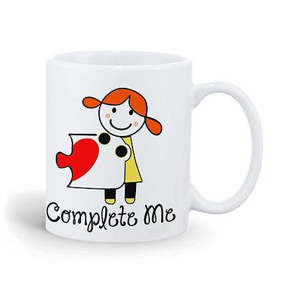 Complete Me Printed Ceramic Coffee Mug 325