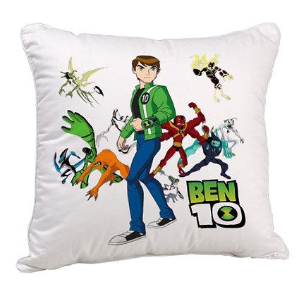BEN 10 Printed Poly Satin Cushion Pillow with Filler