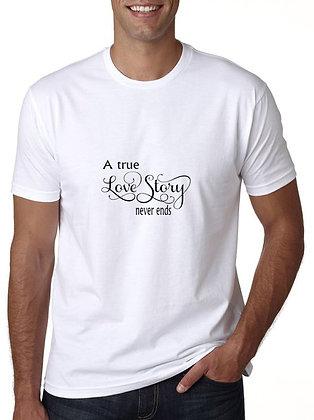 Love Story Printed Regular Fit Round Men's T-shirt