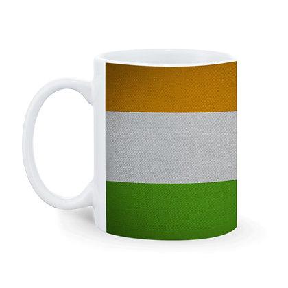 National Flag Colors Printed Ceramic Coffee Mug 325 ml