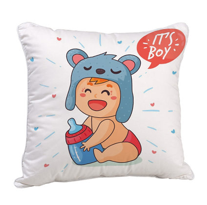 Cute Baby Satin Cushion Pillow with Filler
