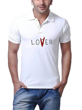 Lover Printed Regular Fit Polo Men's T-shirt