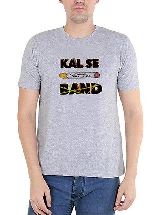 Kal Se Sutta Band Printed Regular Fit Round Men's T-shirt