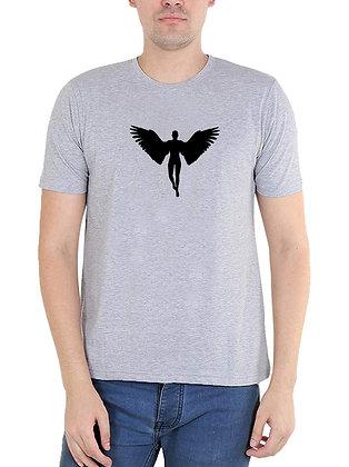 Flying wing Printed Regular Fit Round Men's T-shirt