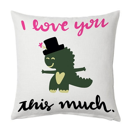 I love you very much Printed Poly Satin Cushions Pillow Cover with