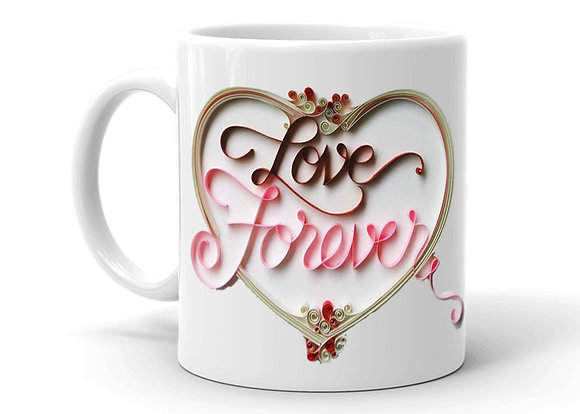 Love Forever Printed Ceramic Coffee Mug 325 ml
