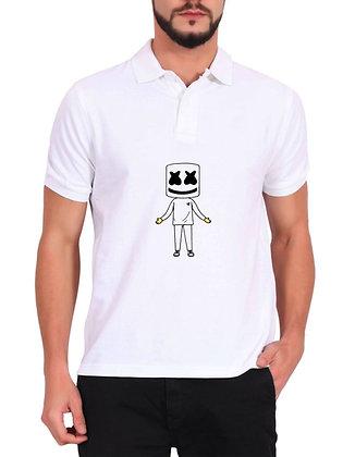 Marshmello Printed Regular Fit Polo Men's T-shirt