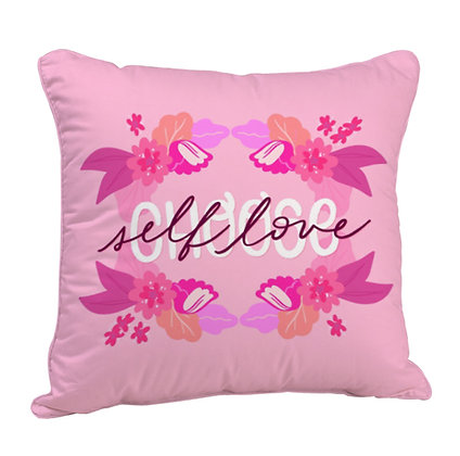 Choose Self Love Satin Cushion Pillow with Filler