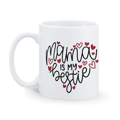 Mom is my bestie Printed Ceramic Coffee Mug 325 ml