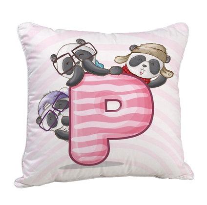 P Satin Cushion Pillow with Filler