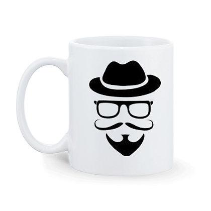 Gentleman Printed Ceramic Coffee Mug 325 ml