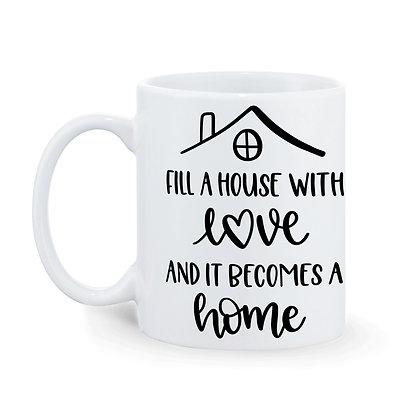 Home Sweet Home Printed Ceramic Coffee Mug 325 ml
