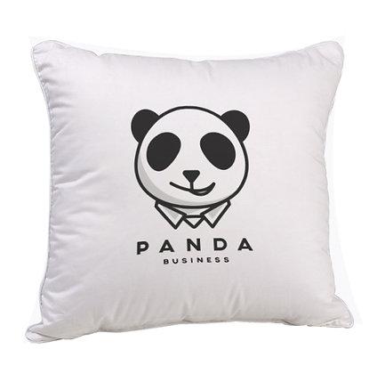 Panda Business Satin Cushion Pillow with Filler