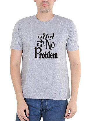 Jeene De Printed Regular Fit Round Men's T-shirt