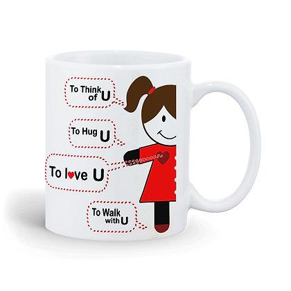 To Hug You Printed Ceramic Coffee Mug 325