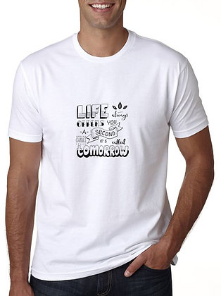 Life Printed Regular Fit Round Men's T-shirt