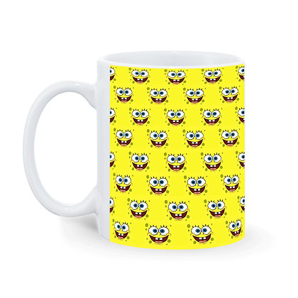 Cartoon SpongeBob SquarePants Pattern Ceramic Coffee Mug 325 ml