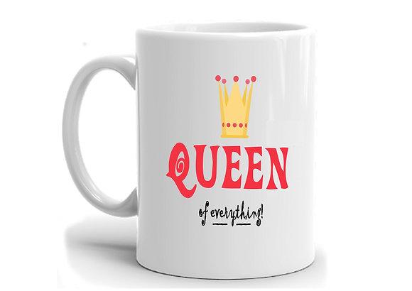 Love You Queen Printed Ceramic Coffee Mug 325 ml