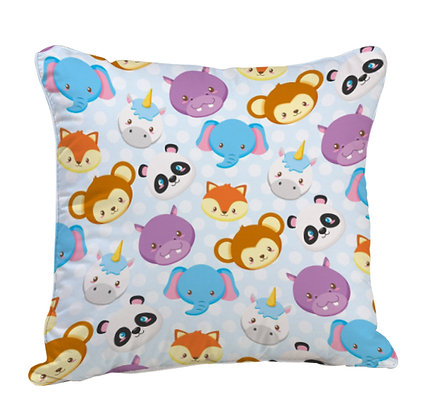 Cute Animals Pattern Satin Cushion Pillow with Filler