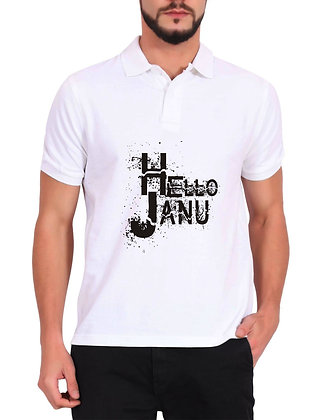 Hello Jaanu Printed Regular Fit Polo Men's T-shirt