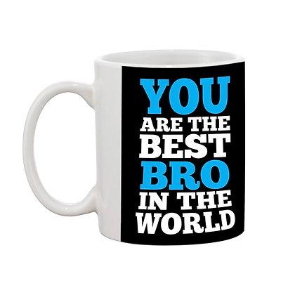 Best Bro Printed Ceramic Coffee Mug 325 ml
