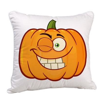 Funny Pumpkin Satin Cushion Pillow with Filler