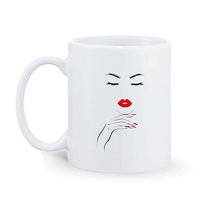 Lady Boss Printed Ceramic Coffee Mug 325 ml
